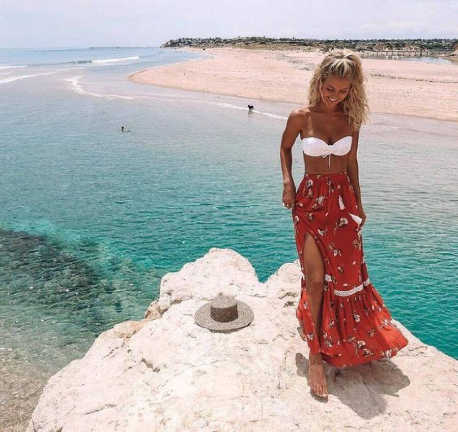 jupe rouge bikini